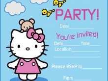 91 Create Hello Kitty Birthday Invitation Template Free Now for Hello Kitty Birthday Invitation Template Free