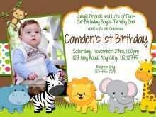 91 Create Safari Birthday Invitation Template Free in Word for Safari Birthday Invitation Template Free
