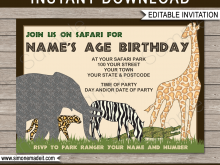 91 Create Zoo Birthday Party Invitation Template For Free with Zoo Birthday Party Invitation Template