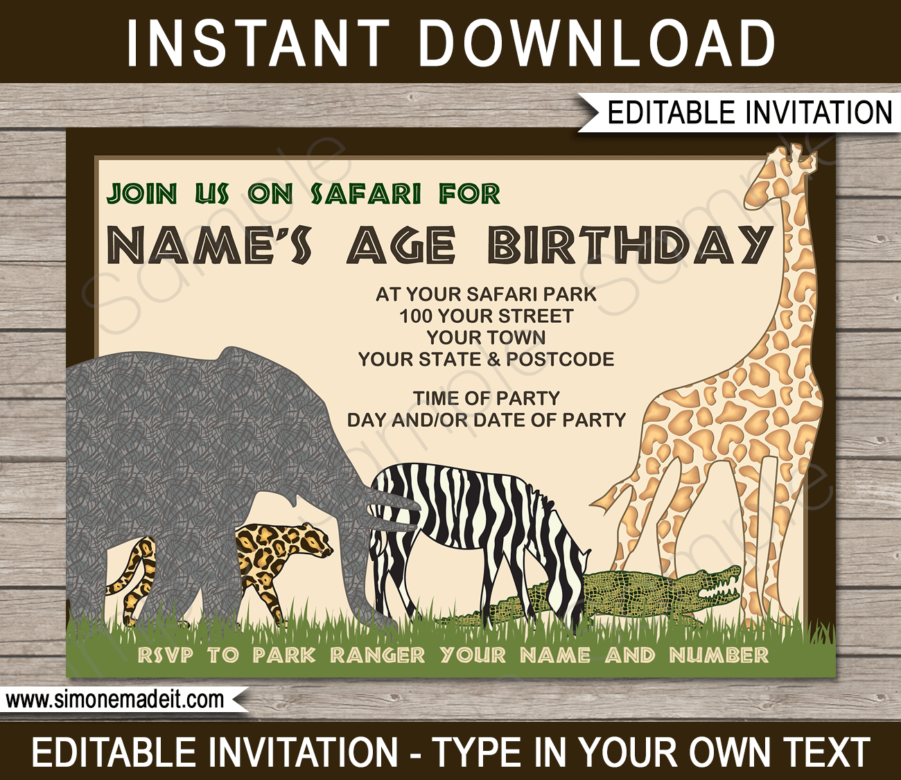 91 Create Zoo Birthday Party Invitation Template For Free with Zoo Birthday Party Invitation Template