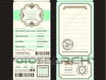 91 Creating Boarding Pass Wedding Invitation Template Templates with Boarding Pass Wedding Invitation Template