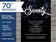 91 Format 70 Year Old Birthday Invitation Template Templates with 70 Year Old Birthday Invitation Template