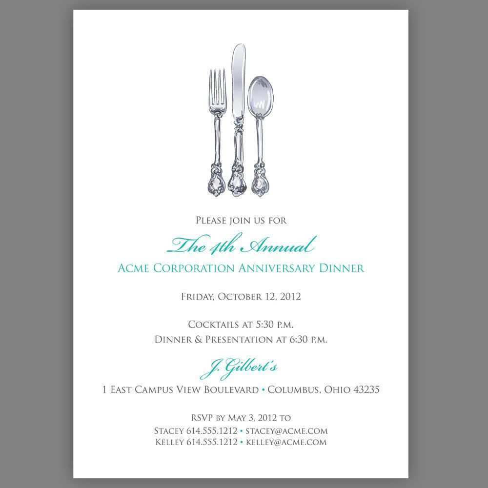 91 Free Corporate Dinner Invitation Example Layouts by Corporate Dinner Invitation Example