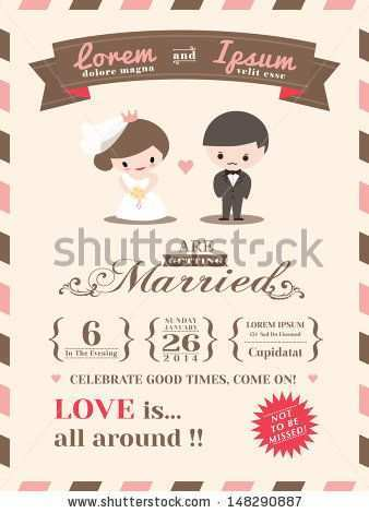 91 Online Wedding Invitation Template Cartoon With Stunning Design With Wedding Invitation Template Cartoon Cards Design Templates