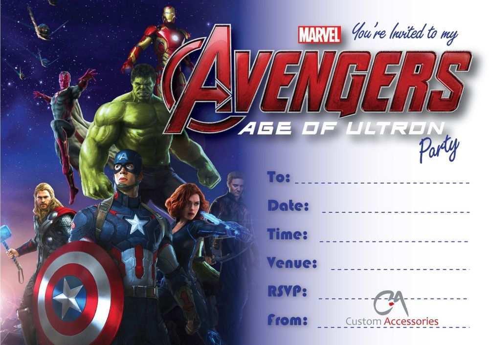 91 Printable Avengers Birthday Invitation Template Now for Avengers Birthday Invitation Template