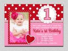 91 Report Birthday Invitation Template Baby Girl With Stunning Design for Birthday Invitation Template Baby Girl