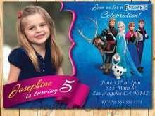 91 Report Elsa Party Invitation Template Formating with Elsa Party Invitation Template