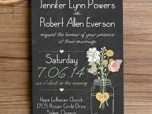 91 Standard Jar Wedding Invitation Template Maker with Jar Wedding Invitation Template