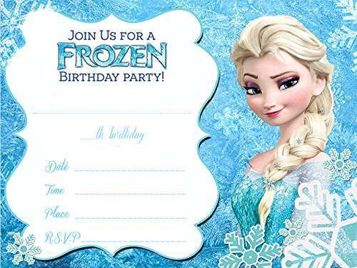 This is an image of Frozen Invites Printable intended for frozen inspired