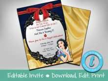 92 Adding Birthday Invitation Template Snow White Photo with Birthday Invitation Template Snow White