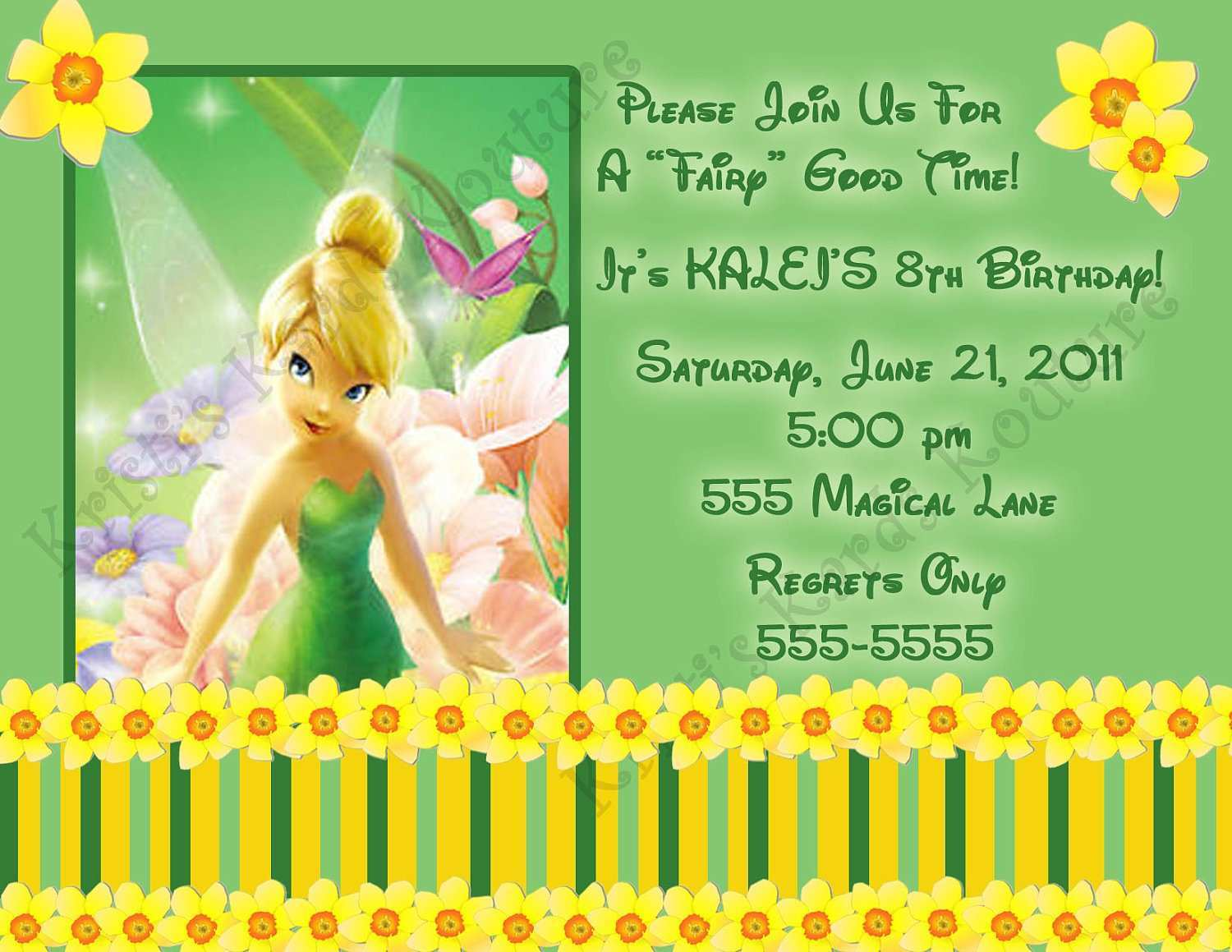 5 Adding Tinkerbell Birthday Invitation Template For Free for