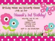 92 Create Birthday Invitation Butterfly Template With Stunning Design for Birthday Invitation Butterfly Template