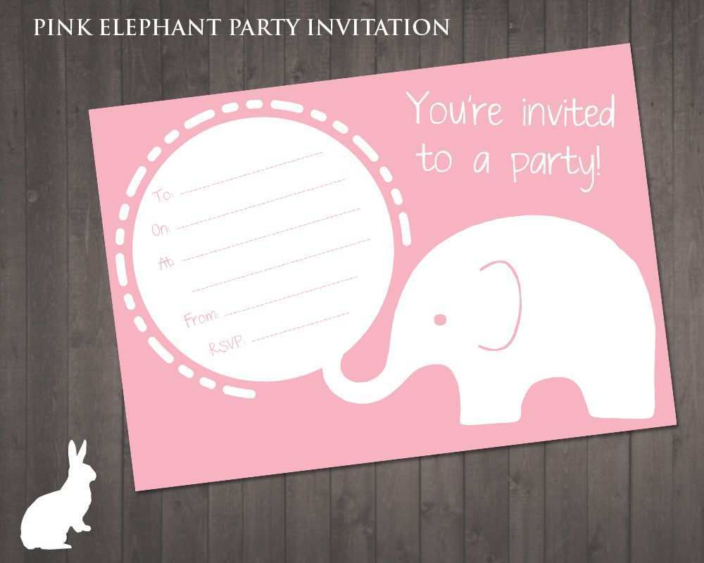 92 Creating Birthday Invitation Elephant Template PSD File for Birthday Invitation Elephant Template