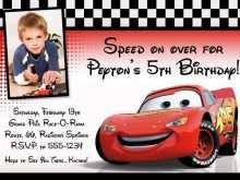 92 Creating Cars Birthday Invitation Template Free PSD File by Cars Birthday Invitation Template Free