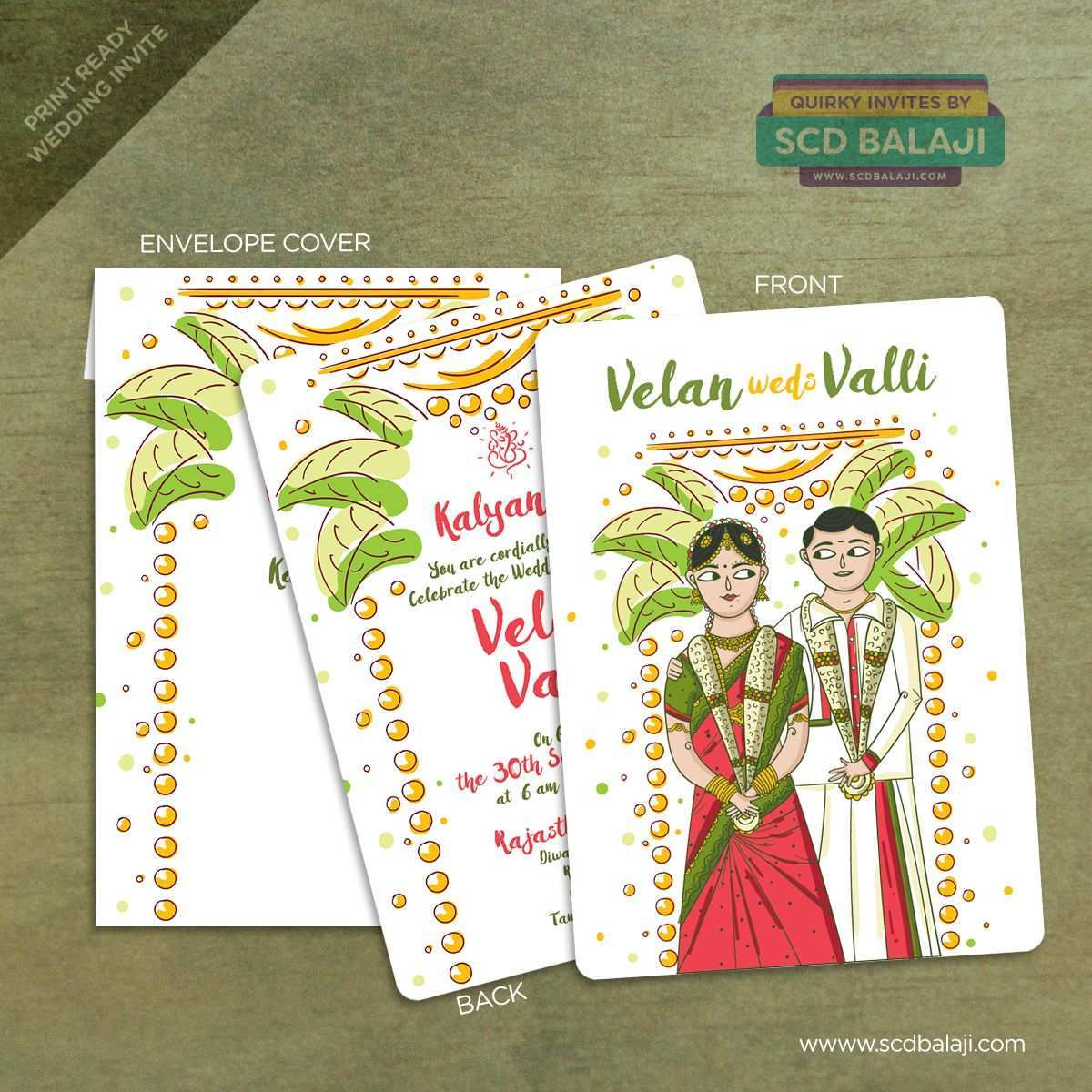 5 Creating Tamil Wedding Invitation Template Vector Templates by