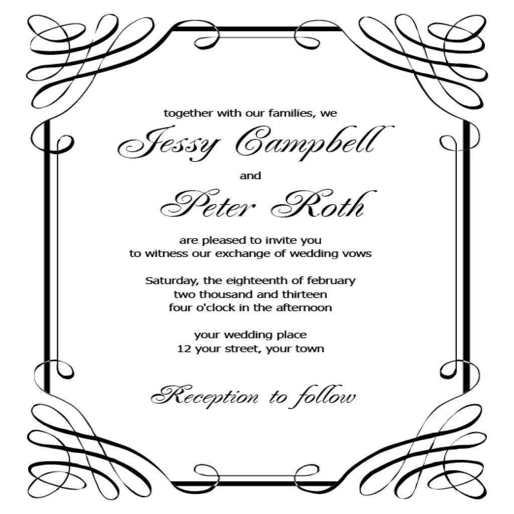 92 Creative Blank Wedding Invitation Templates For Microsoft Word for Ms Word by Blank Wedding Invitation Templates For Microsoft Word