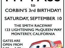 92 Customize Cars Birthday Invitation Template Free With Stunning Design by Cars Birthday Invitation Template Free