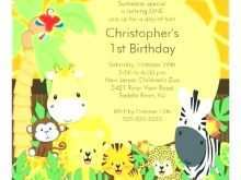 92 Customize Our Free Jungle Birthday Invitation Template Free in Photoshop by Jungle Birthday Invitation Template Free