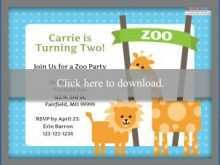 92 How To Create Zoo Birthday Party Invitation Template Maker with Zoo Birthday Party Invitation Template