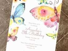 92 Report Birthday Invitation Template Butterfly Party Templates by Birthday Invitation Template Butterfly Party