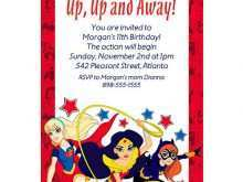Harley Quinn Birthday Invitation Template