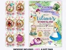 93 Adding Blank Alice In Wonderland Invitation Template in Word for Blank Alice In Wonderland Invitation Template