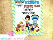93 Adding Paw Patrol Party Invitation Template Templates by Paw Patrol Party Invitation Template