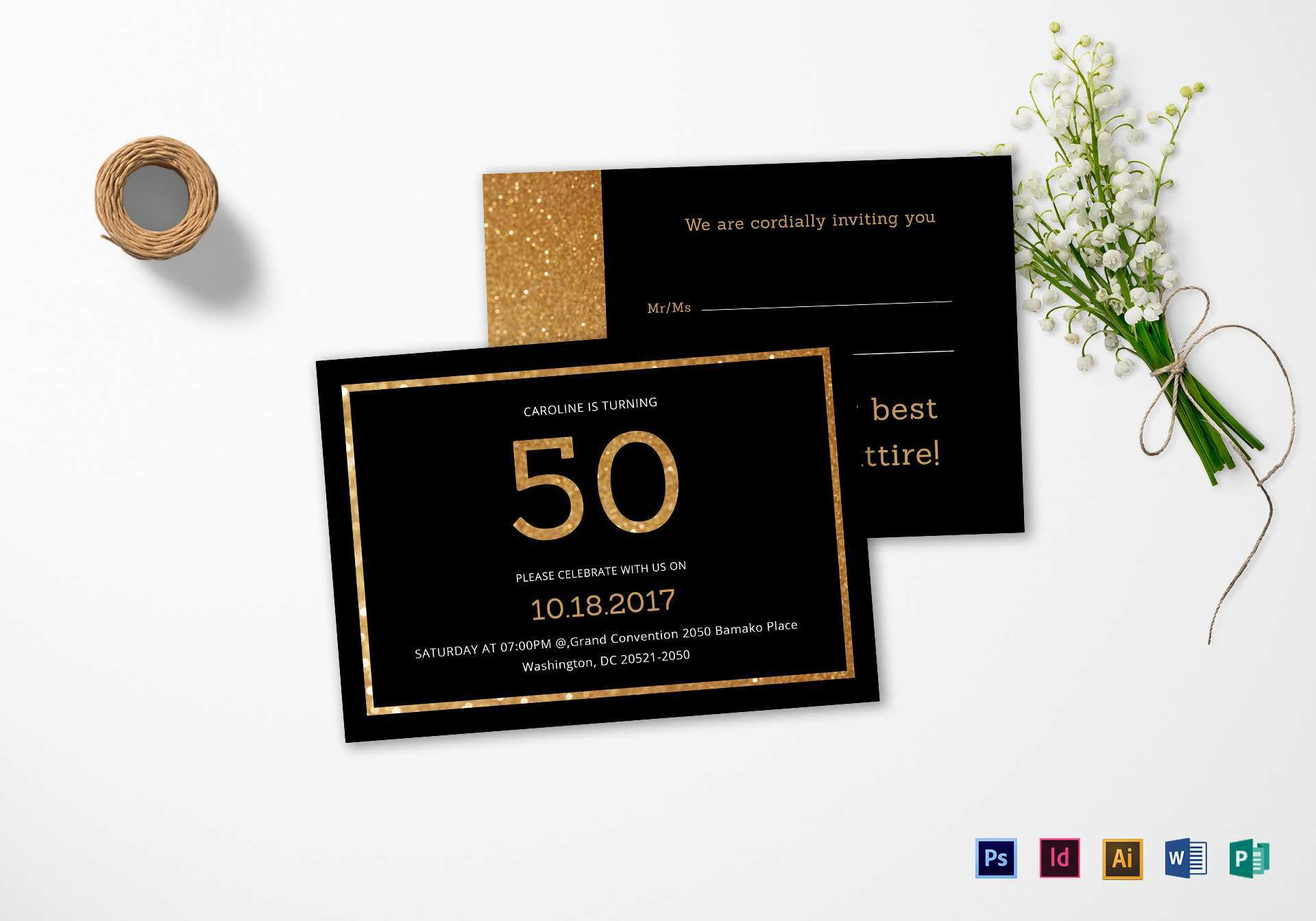 Birthday Invitation Template Indesign - Cards Design Templates