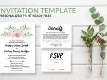 93 Create Boho Wedding Invitation Template in Word by Boho Wedding Invitation Template