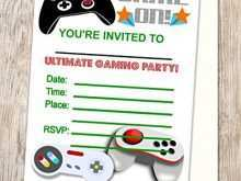 93 Create Video Game Party Invitation Template Layouts with Video Game Party Invitation Template