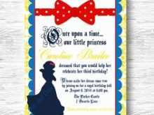 93 Creative Birthday Invitation Template Snow White Maker by Birthday Invitation Template Snow White