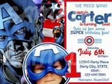 93 Creative Captain America Birthday Invitation Template Photo by Captain America Birthday Invitation Template