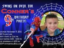 93 Customize Birthday Invitation Template Spiderman in Photoshop by Birthday Invitation Template Spiderman