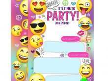 93 Customize Our Free Emoji Party Invitation Template in Photoshop for Emoji Party Invitation Template