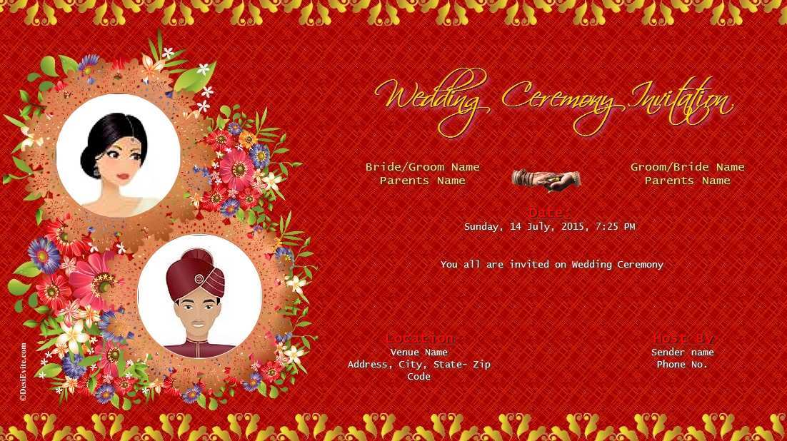 93 Free Whatsapp Indian Wedding Invitation Template With Stunning Design By Whatsapp Indian Wedding Invitation Template Cards Design Templates