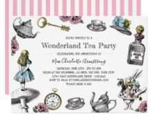 93 Standard Blank Alice In Wonderland Invitation Template Templates for Blank Alice In Wonderland Invitation Template