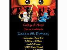 93 Standard Ninjago Party Invitation Template Maker for Ninjago Party Invitation Template