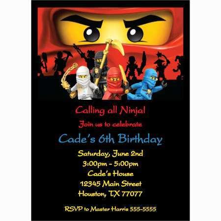 93 Standard Ninjago Party Invitation Template Maker for Ninjago Party Invitation Template