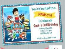 93 The Best Paw Patrol Party Invitation Template in Word with Paw Patrol Party Invitation Template