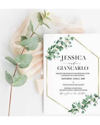 93 The Best Wedding Invitation Template Eucalyptus for Ms Word with Wedding Invitation Template Eucalyptus