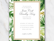 Wedding Invitation Template Word Free