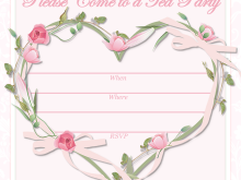 94 Adding Afternoon Tea Invitation Template Blank For Free for Afternoon Tea Invitation Template Blank