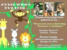 94 Best Birthday Invitation Template Jungle Theme Formating by Birthday Invitation Template Jungle Theme
