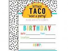 94 Best Taco Party Invitation Template Free Now for Taco Party Invitation Template Free