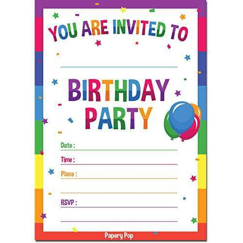 94 Blank Birthday Party Invitation Template in Word for Birthday Party Invitation Template