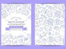Doodle Wedding Invitation Template