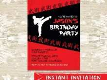 Karate Party Invitation Template