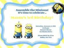 Minions Birthday Invitation Template