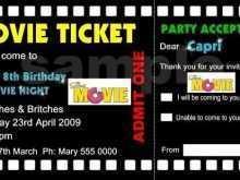 Ticket Birthday Invitation Template