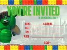 94 Printable Blank Lego Invitation Template in Word for Blank Lego Invitation Template